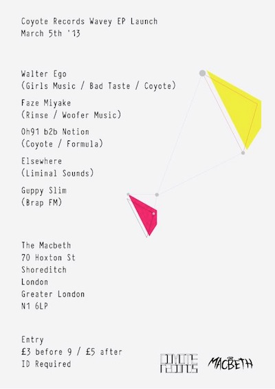 Coyote Records - Wavey EP launch party