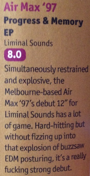 DJ Mag - Air Max '97 - Progress and Memory EP - review