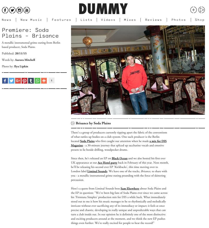 Dummy - Brisance Premiere